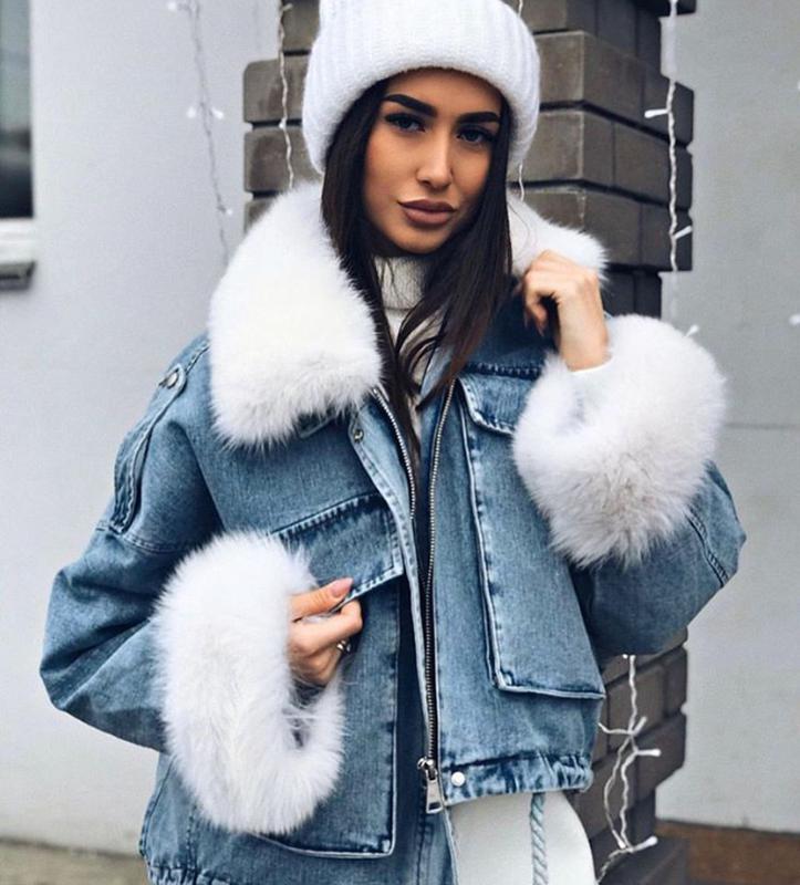 Джинсовая курточка на меху! - Фото 3