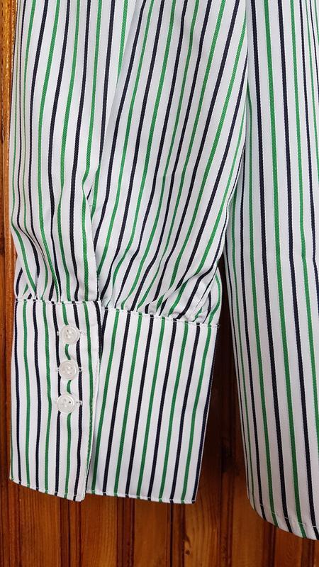 Рубашка  mango в полоску - Фото 6