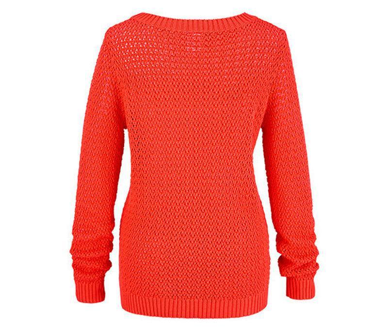 Яркий вязаный ажурный свитер tcm tchibo - Фото 3