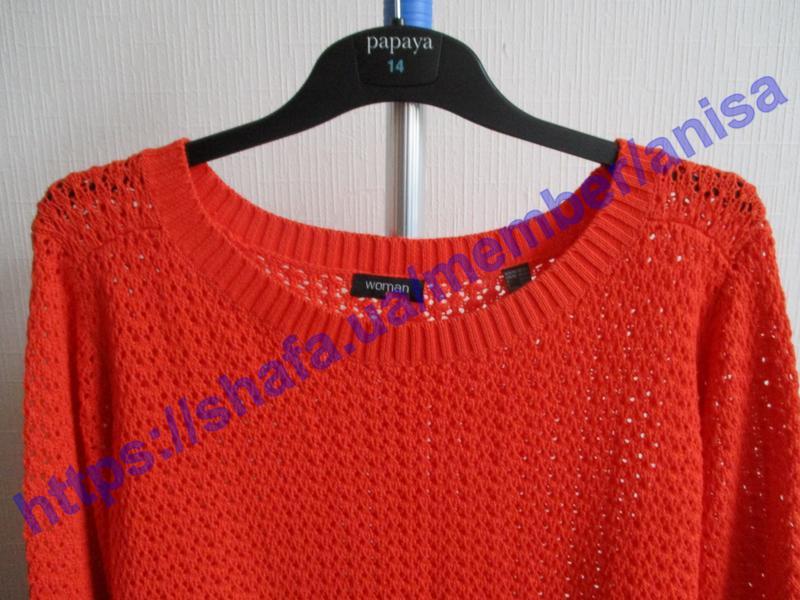 Яркий вязаный ажурный свитер tcm tchibo - Фото 6