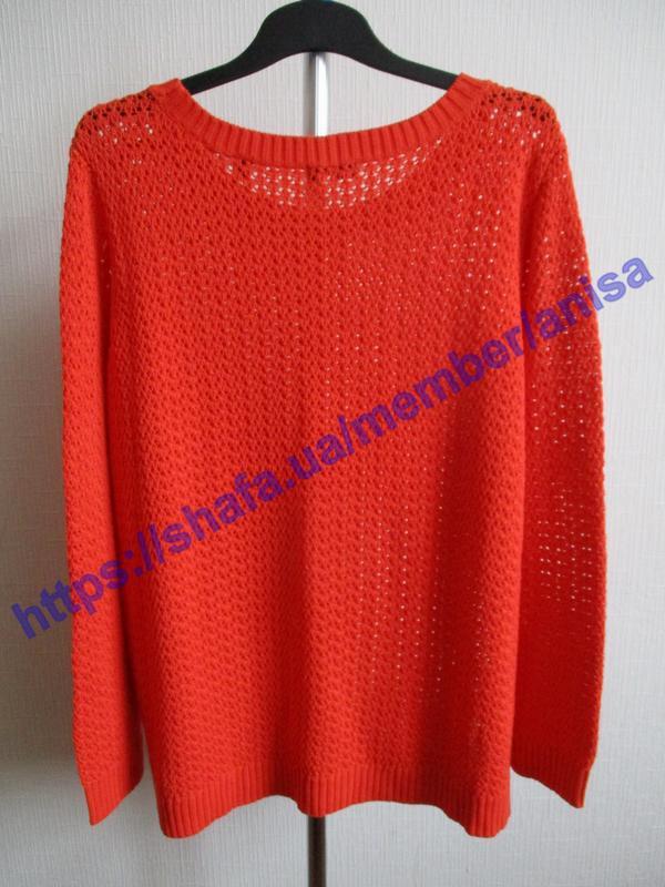 Яркий вязаный ажурный свитер tcm tchibo - Фото 7