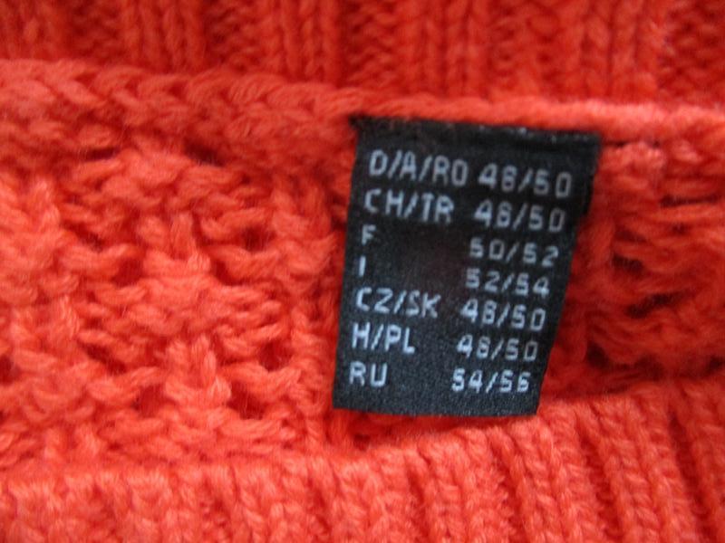 Яркий вязаный ажурный свитер tcm tchibo - Фото 8