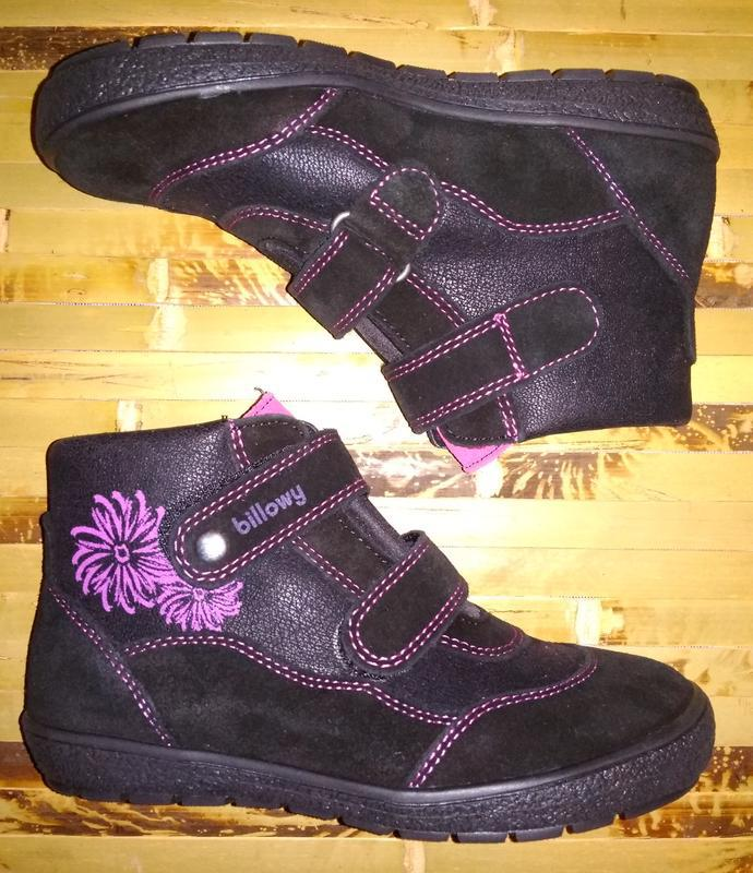 Billowy ботинки еврозима испания черные замша нубук