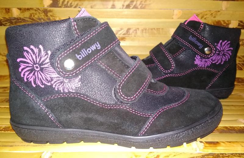 Billowy ботинки еврозима испания черные замша нубук - Фото 2