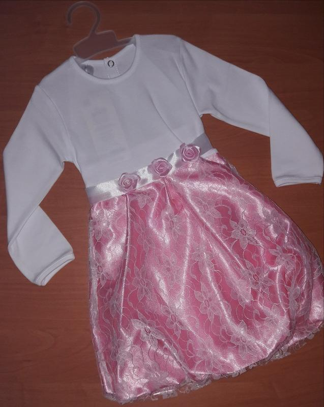 Очаровательное платье с длинным рукавом для юной леди - Фото 4