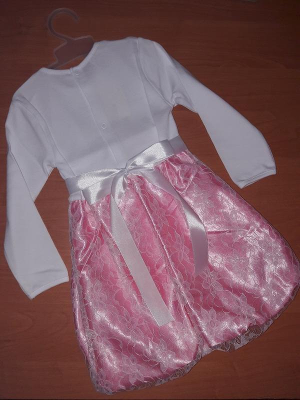 Очаровательное платье с длинным рукавом для юной леди - Фото 5