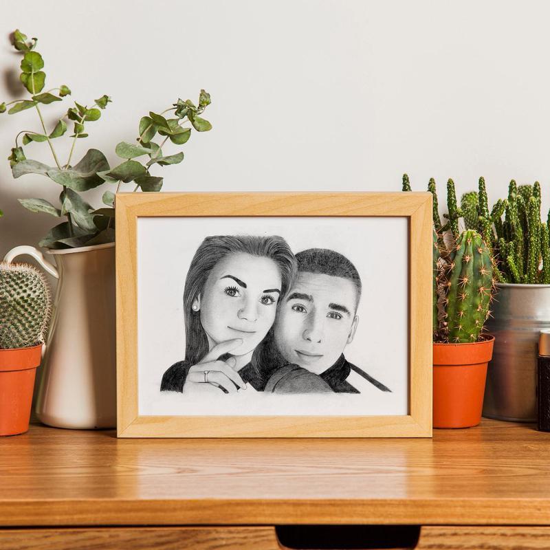 Подарок на День рождение Свадьбу Коллеге Портрет по фотографии - Фото 6