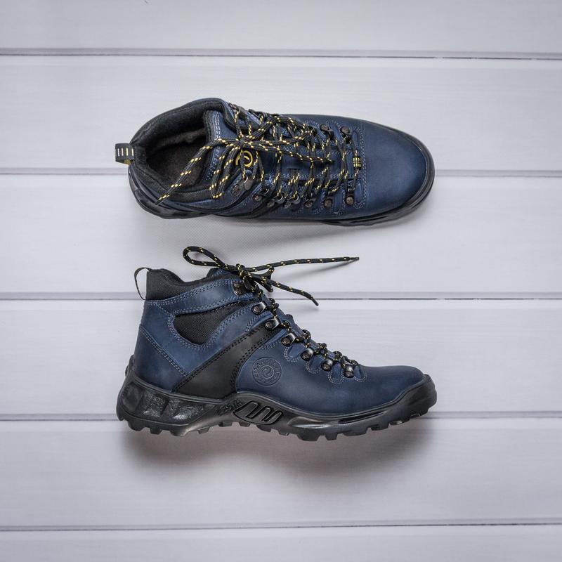 Фирменные, польские, зимние ботинки из итальянской кожи
