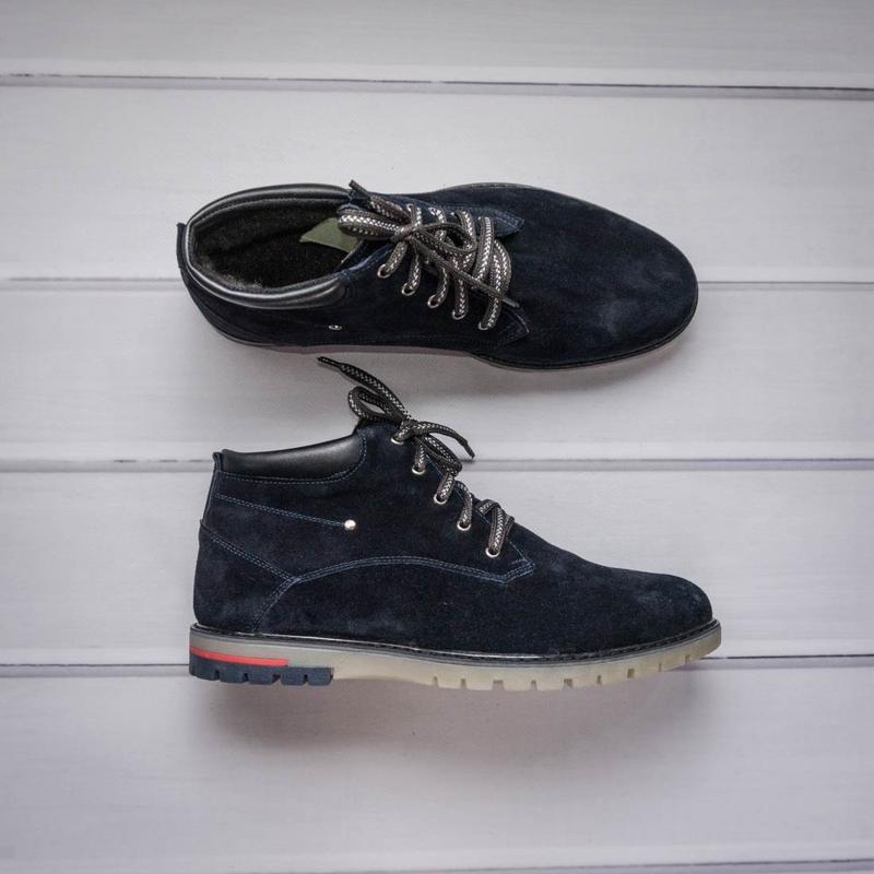 Качественные зимние ботинки из натуральной замши