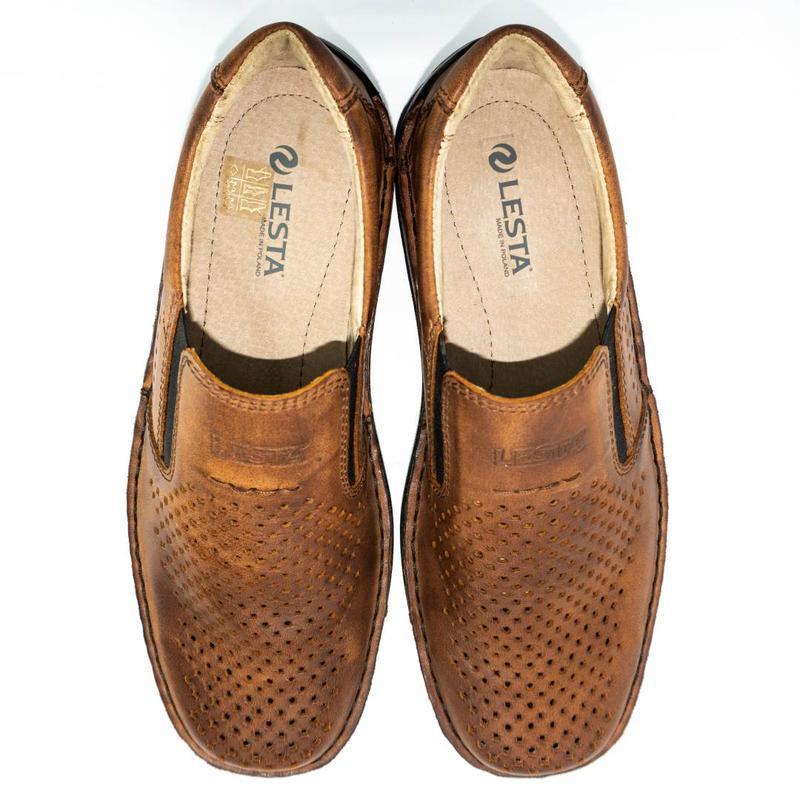 Польские летние туфли леста из натуральной кожи.
