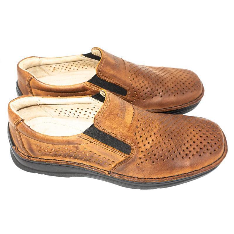 Польские летние туфли леста из натуральной кожи. - Фото 2