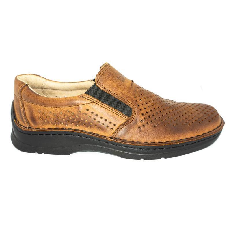 Польские летние туфли леста из натуральной кожи. - Фото 3
