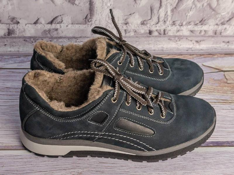 Кожаные зимние кроссовки - Фото 3