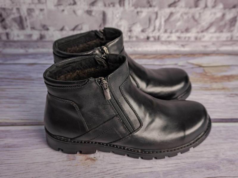 Кожаные зимние ботинки - Фото 3