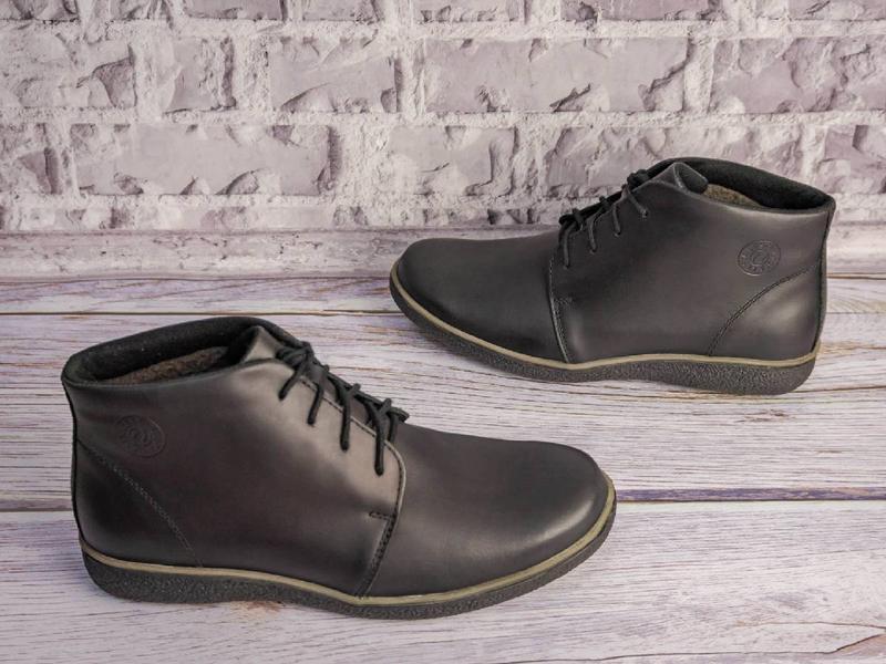 Зимние кожаные ботинки - Фото 4
