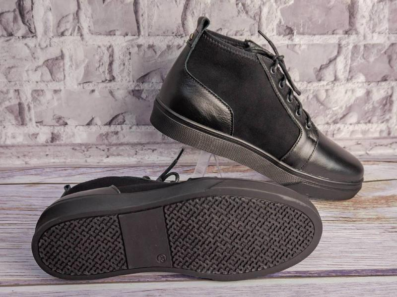 Кожанные зимние ботинки - Фото 2