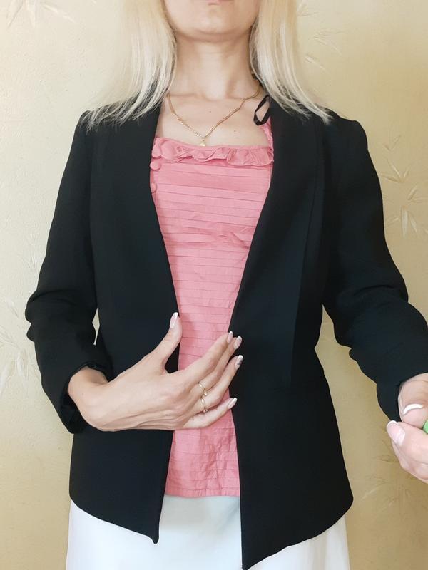 Пиджак чёрный стильный - Фото 4