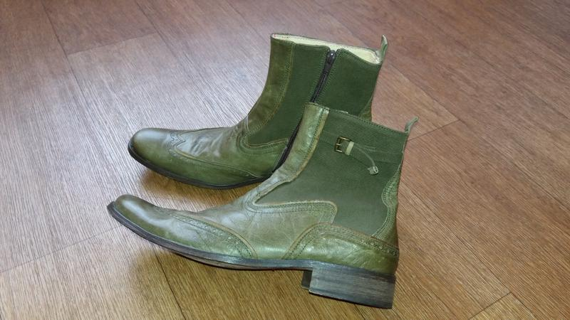 Ботинки итальянские демисезонные из натуральной кожи