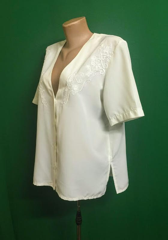 Нарядная блуза с прошвой - Фото 2
