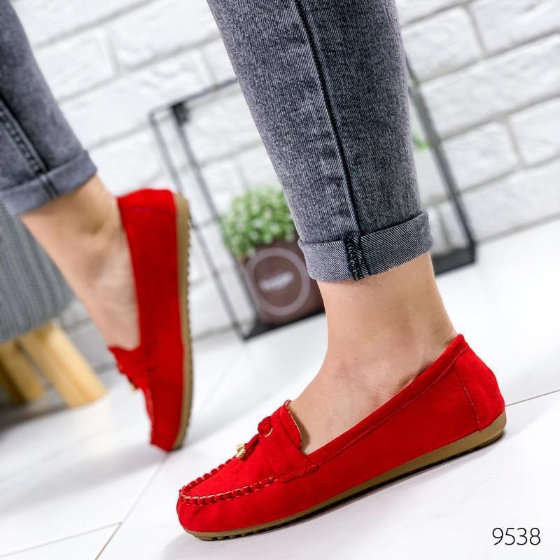 ❤ женские красные туфли лоферы ❤