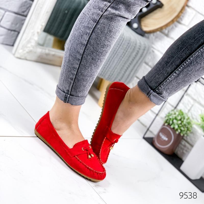 ❤ женские красные туфли лоферы ❤ - Фото 2