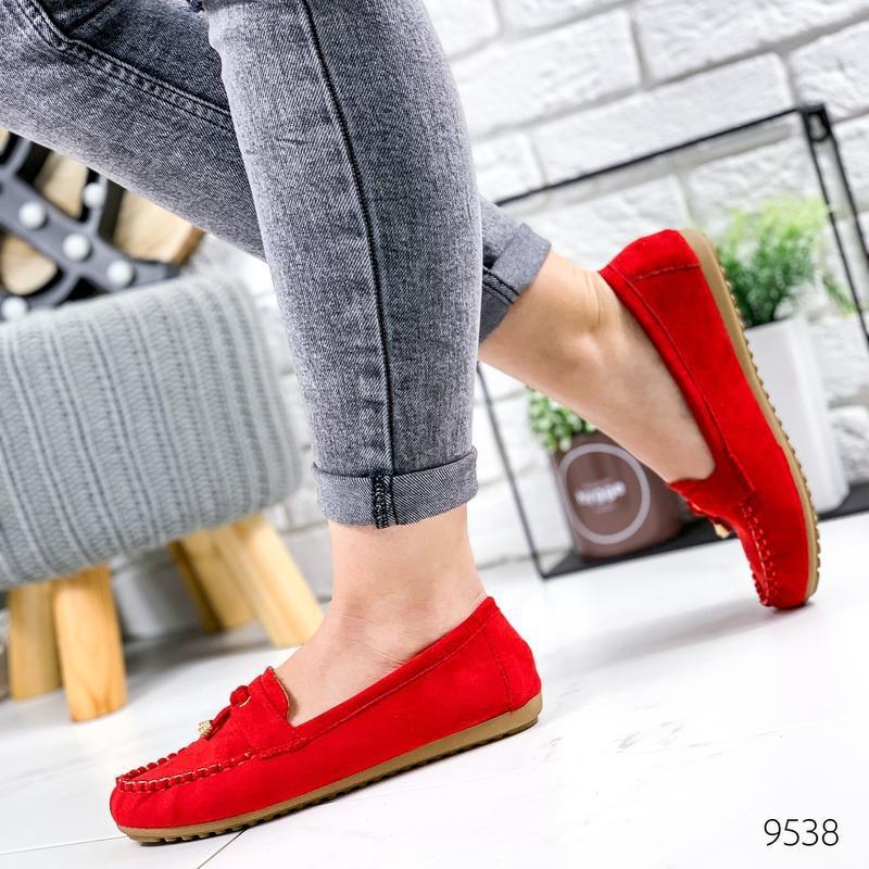 ❤ женские красные туфли лоферы ❤ - Фото 3