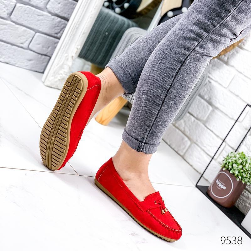 ❤ женские красные туфли лоферы ❤ - Фото 4