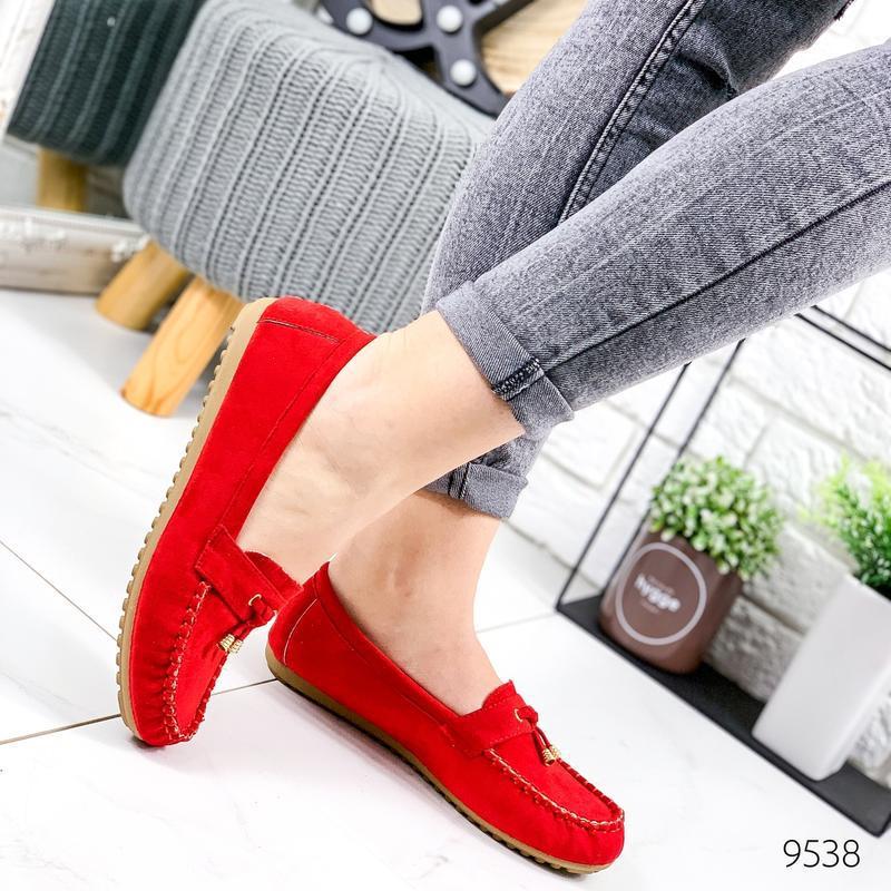 ❤ женские красные туфли лоферы ❤ - Фото 5