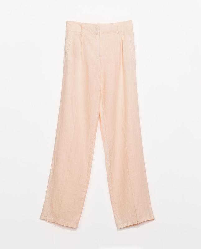 Льняные брюки zara s - Фото 2