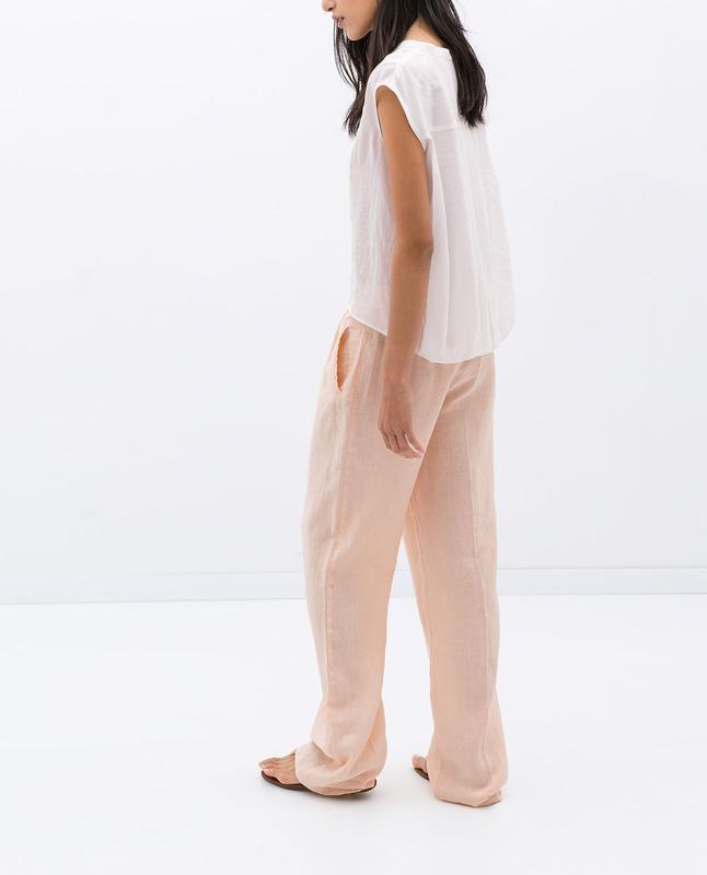 Льняные брюки zara s - Фото 3