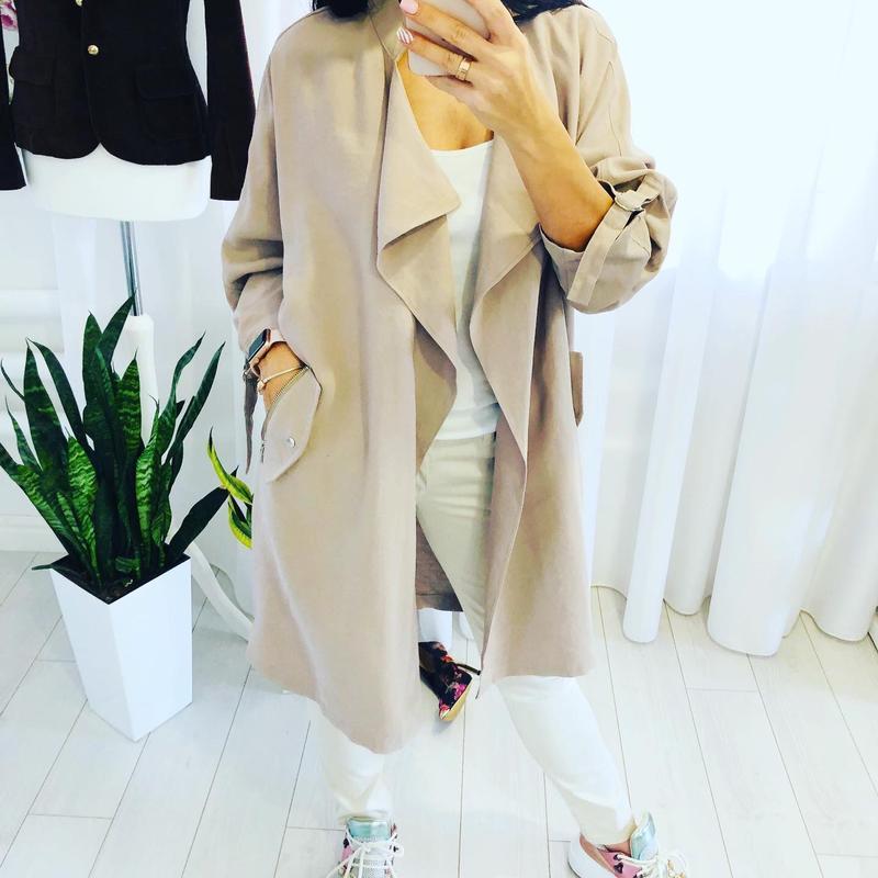 Невероятно стильное пальто кардиган кокон new look - Фото 7