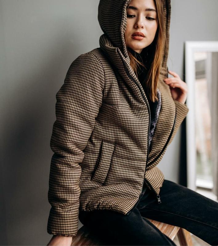 Шикарная твидовая курточка дутик демисезон