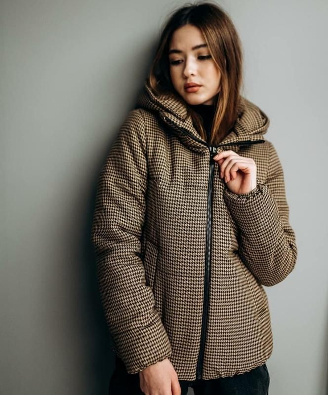 Шикарная твидовая курточка дутик демисезон - Фото 3