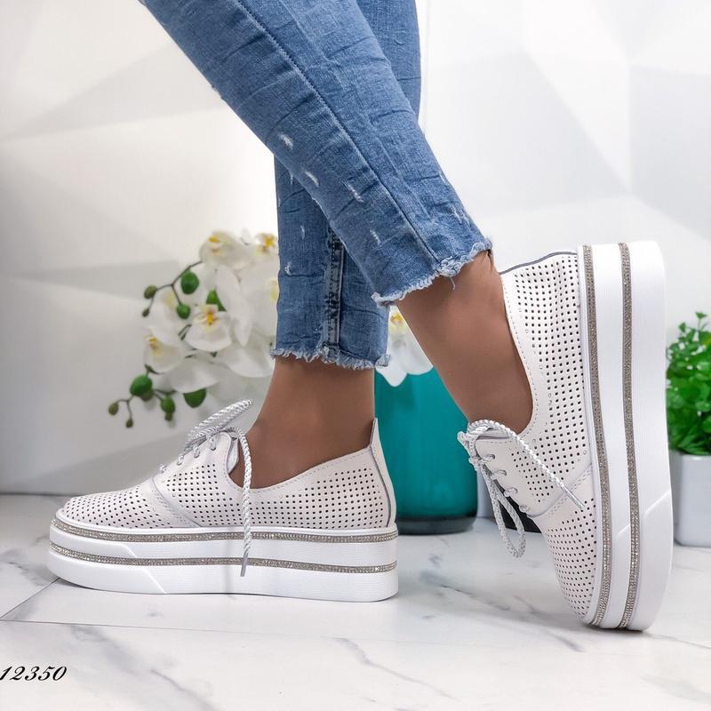 ❤ женские белые кожаные туфли лоферы ❤ - Фото 2