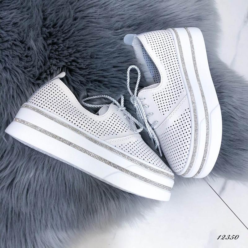 ❤ женские белые кожаные туфли лоферы ❤ - Фото 5