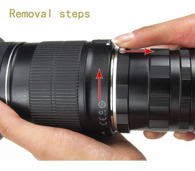 Макрокольца мануальные Nikon AI и Canon EOS (металлические) - Фото 3