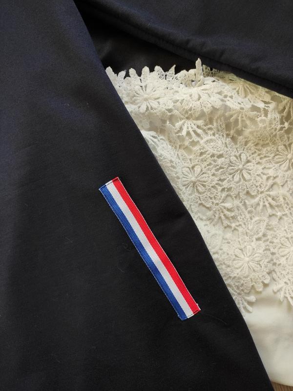 Синее спортивное платье длинное миди с высоким воротником карм... - Фото 8