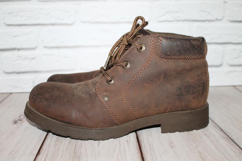 Кожаные ботинки blue box 41 размер 100% натуральная кожа - Фото 2