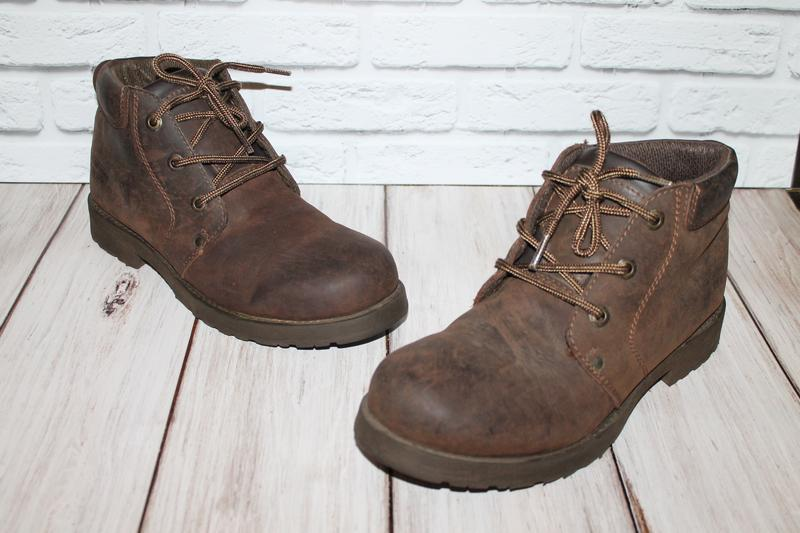 Кожаные ботинки blue box 41 размер 100% натуральная кожа - Фото 3