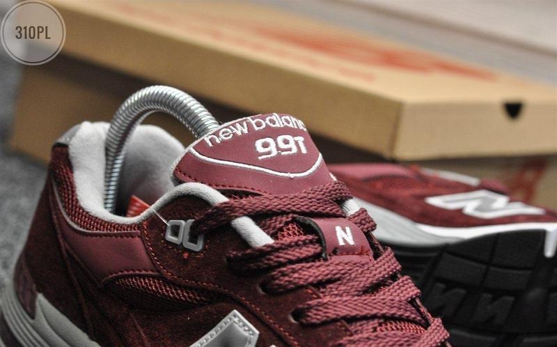 Мужские кроссовки new balance 991 bordo - Фото 3