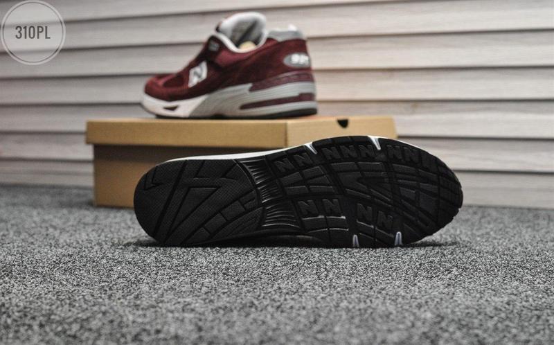 Мужские кроссовки new balance 991 bordo - Фото 6