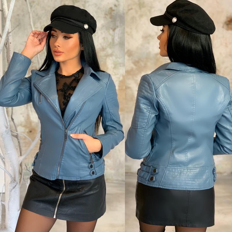 Шикарная куртка женская куртка косуха - Фото 2