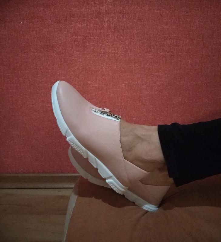 Кеды, туфли, лоферы, сабо из натуральной пудровой кожи, мягкус... - Фото 4