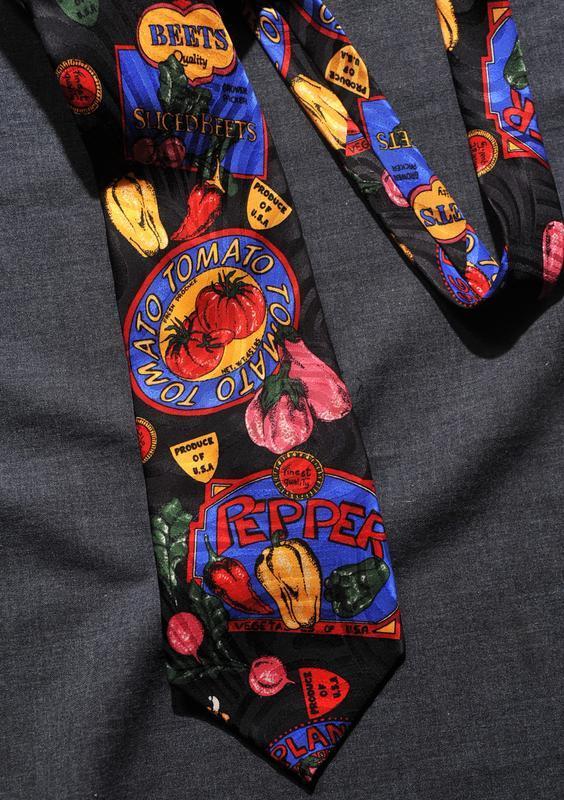 Супер овощной галстук для веганов!