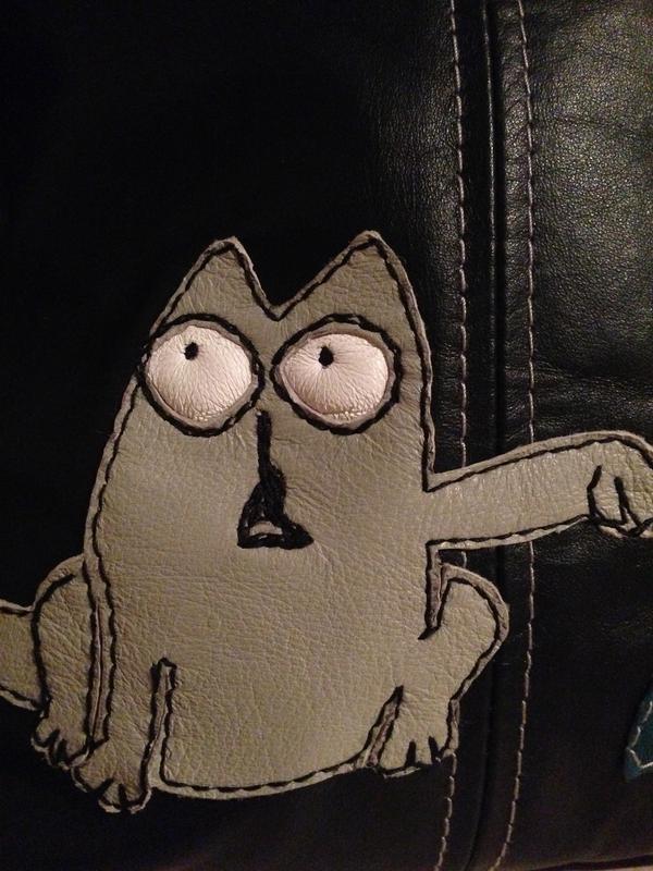 Кожаная сумочка кроссбоди кот саймон - Фото 3