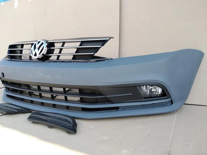 Новый бампер передний Volkswagen Jetta USA 2015 - 2017 год идеал - Фото 4