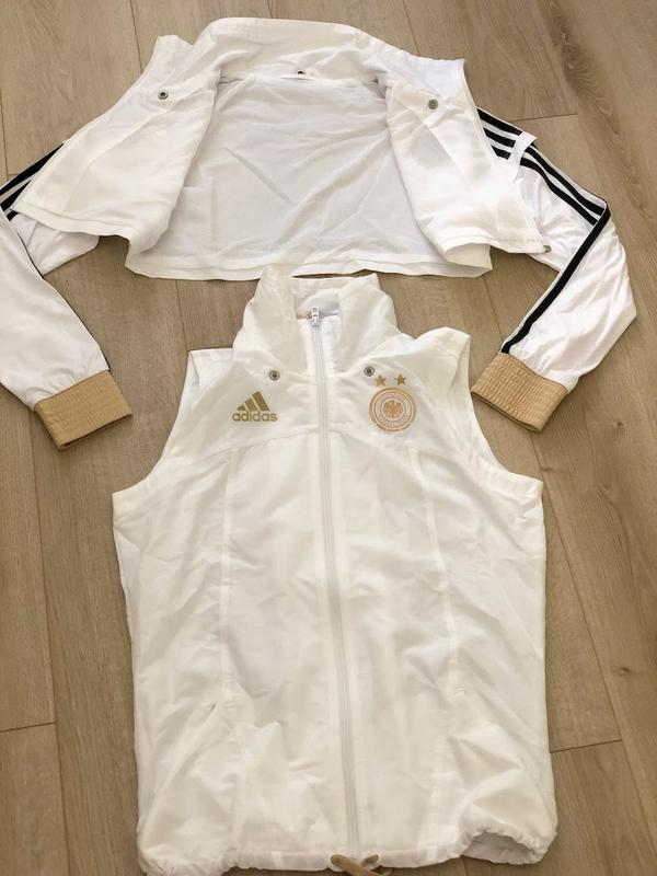Фирменный спортивный костюм адидас. размер м ветровка-жилетка - Фото 3