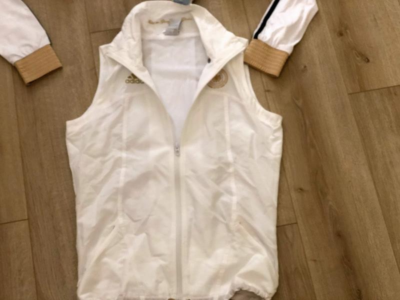 Фирменный спортивный костюм адидас. размер м ветровка-жилетка - Фото 8
