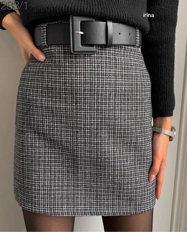 Юбка, короткая юбка, тёплая юбка - Фото 3