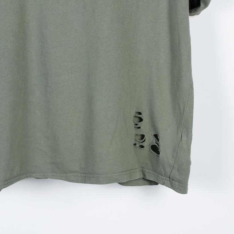 Женская футболка рваная, стильная футболка оверсайз, футболка ... - Фото 3